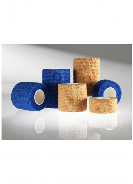 MEDIBLINK Self-adherent bandage, 7,5 cm x 4,5 m, blue M145